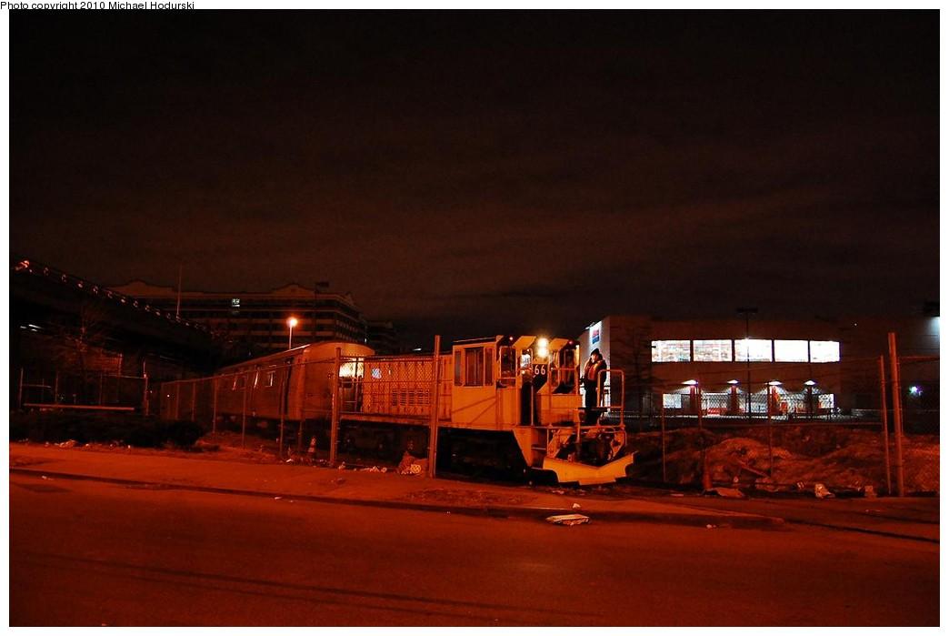(159k, 1044x699)<br><b>Country:</b> United States<br><b>City:</b> New York<br><b>System:</b> New York City Transit<br><b>Line:</b> South Brooklyn Railway<br><b>Location:</b> SBK Yard (2nd Ave at 38th St.) (SBK)<br><b>Route:</b> Work Service<br><b>Car:</b> R-47 Locomotive  66 <br><b>Photo by:</b> Michael Hodurski<br><b>Date:</b> 1/6/2010<br><b>Viewed (this week/total):</b> 0 / 877