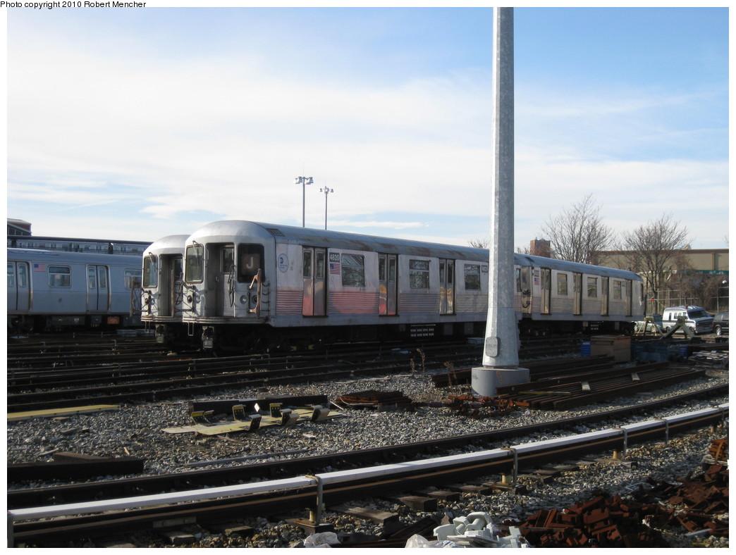 (208k, 1044x788)<br><b>Country:</b> United States<br><b>City:</b> New York<br><b>System:</b> New York City Transit<br><b>Location:</b> East New York Yard/Shops<br><b>Car:</b> R-42 (St. Louis, 1969-1970)  4820 <br><b>Photo by:</b> Robert Mencher<br><b>Date:</b> 1/4/2010<br><b>Viewed (this week/total):</b> 0 / 640
