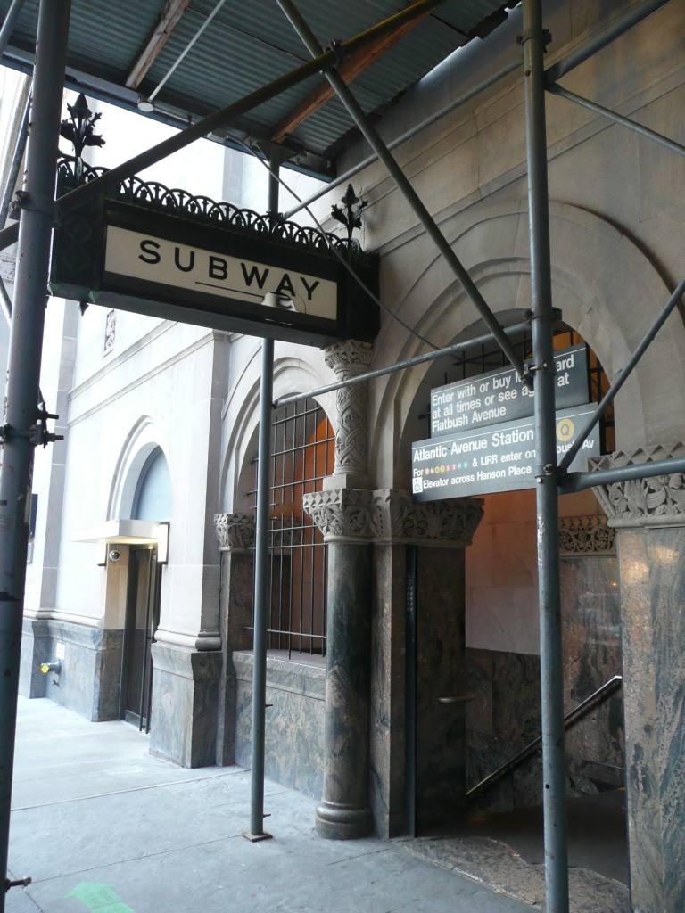 (117k, 768x1024)<br><b>Country:</b> United States<br><b>City:</b> New York<br><b>System:</b> New York City Transit<br><b>Line:</b> BMT Brighton Line<br><b>Location:</b> Atlantic Avenue <br><b>Photo by:</b> Robbie Rosenfeld<br><b>Date:</b> 1/11/2010<br><b>Viewed (this week/total):</b> 2 / 1407