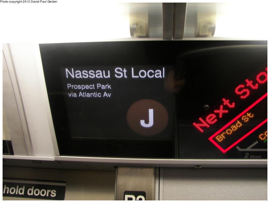 (191k, 1044x788)<br><b>Country:</b> United States<br><b>City:</b> New York<br><b>System:</b> New York City Transit<br><b>Route:</b> J<br><b>Car:</b> R-160A-1 (Alstom, 2005-2008, 4 car sets)  8487 <br><b>Photo by:</b> David-Paul Gerber<br><b>Date:</b> 1/17/2010<br><b>Notes:</b> J Essex-Prospect Park shuttle FIND display<br><b>Viewed (this week/total):</b> 2 / 1017