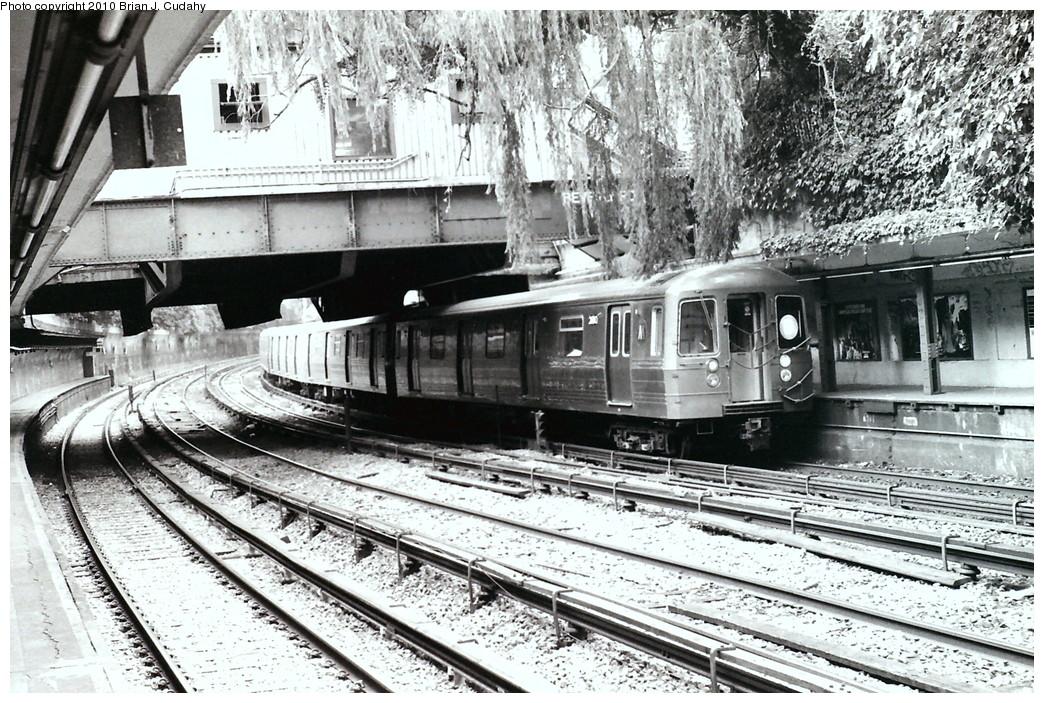 (306k, 1044x703)<br><b>Country:</b> United States<br><b>City:</b> New York<br><b>System:</b> New York City Transit<br><b>Line:</b> BMT Brighton Line<br><b>Location:</b> Beverley Road <br><b>Route:</b> D<br><b>Car:</b> R-68 (Westinghouse-Amrail, 1986-1988)   <br><b>Photo by:</b> Brian J. Cudahy<br><b>Date:</b> 1990<br><b>Notes:</b> Approx. 1990<br><b>Viewed (this week/total):</b> 6 / 2186