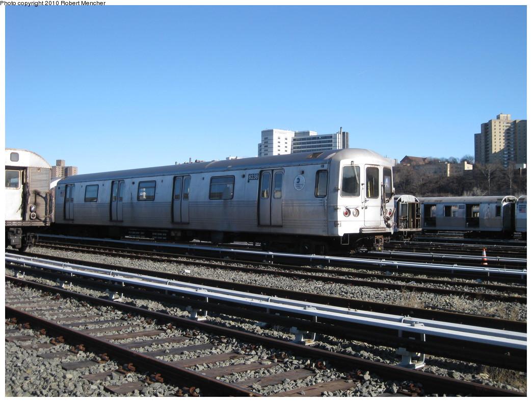 (233k, 1044x788)<br><b>Country:</b> United States<br><b>City:</b> New York<br><b>System:</b> New York City Transit<br><b>Location:</b> 207th Street Yard<br><b>Car:</b> R-46 (Pullman-Standard, 1974-75) 6238 <br><b>Photo by:</b> Robert Mencher<br><b>Date:</b> 1/18/2010<br><b>Viewed (this week/total):</b> 0 / 658