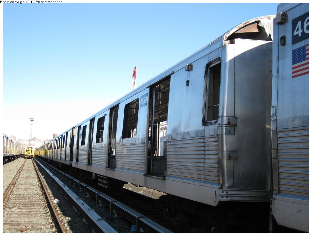 (187k, 1044x788)<br><b>Country:</b> United States<br><b>City:</b> New York<br><b>System:</b> New York City Transit<br><b>Location:</b> 207th Street Yard<br><b>Car:</b> R-42 (St. Louis, 1969-1970)  4630 <br><b>Photo by:</b> Robert Mencher<br><b>Date:</b> 1/18/2010<br><b>Notes:</b> Scrap<br><b>Viewed (this week/total):</b> 0 / 607