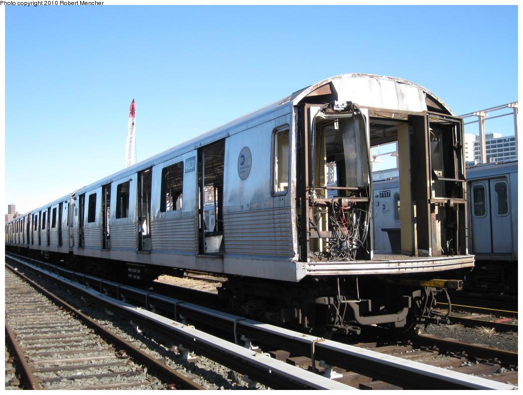 (226k, 1044x788)<br><b>Country:</b> United States<br><b>City:</b> New York<br><b>System:</b> New York City Transit<br><b>Location:</b> 207th Street Yard<br><b>Car:</b> R-42 (St. Louis, 1969-1970)  4631 <br><b>Photo by:</b> Robert Mencher<br><b>Date:</b> 1/18/2010<br><b>Notes:</b> Scrap<br><b>Viewed (this week/total):</b> 0 / 756