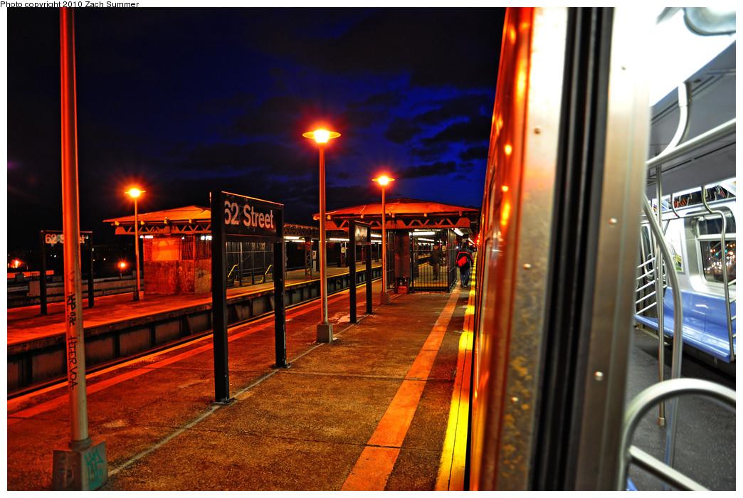 (284k, 1044x700)<br><b>Country:</b> United States<br><b>City:</b> New York<br><b>System:</b> New York City Transit<br><b>Line:</b> BMT West End Line<br><b>Location:</b> 62nd Street <br><b>Route:</b> M<br><b>Car:</b> R-160A-1 (Alstom, 2005-2008, 4 car sets)  8404 <br><b>Photo by:</b> Zach Summer<br><b>Date:</b> 1/8/2010<br><b>Viewed (this week/total):</b> 0 / 1046