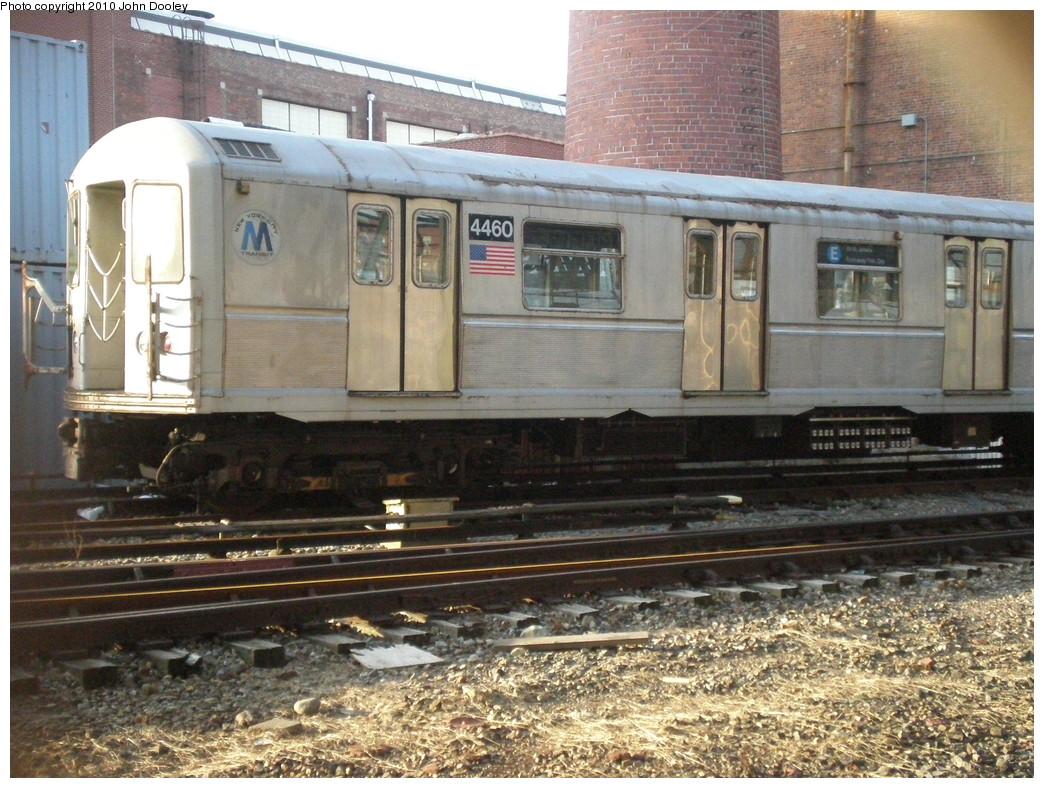 (283k, 1044x788)<br><b>Country:</b> United States<br><b>City:</b> New York<br><b>System:</b> New York City Transit<br><b>Location:</b> Coney Island Yard<br><b>Car:</b> R-40M (St. Louis, 1969)  4460 <br><b>Photo by:</b> John Dooley<br><b>Date:</b> 1/16/2010<br><b>Viewed (this week/total):</b> 1 / 1296