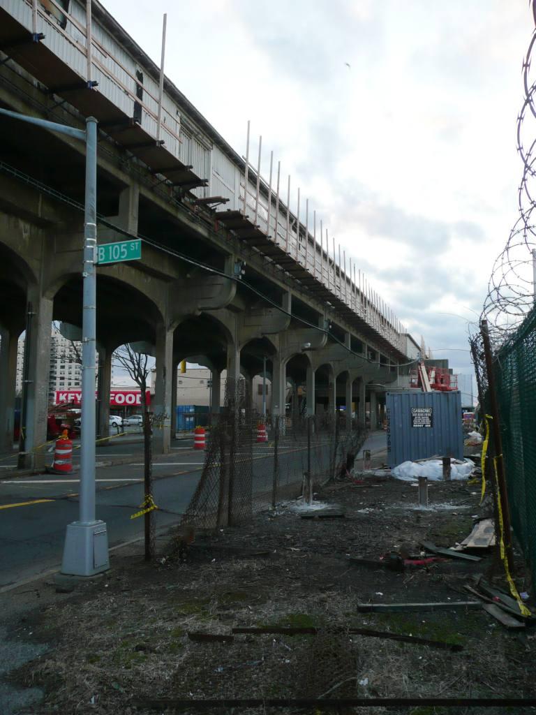 (113k, 768x1024)<br><b>Country:</b> United States<br><b>City:</b> New York<br><b>System:</b> New York City Transit<br><b>Line:</b> IND Rockaway<br><b>Location:</b> Beach 105th Street/Seaside <br><b>Photo by:</b> Robbie Rosenfeld<br><b>Date:</b> 1/26/2010<br><b>Notes:</b> Location of old exit at street level.<br><b>Viewed (this week/total):</b> 0 / 937