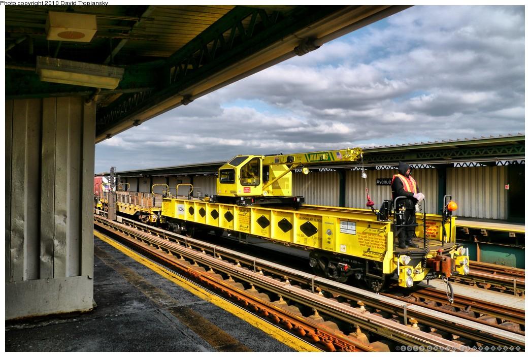 (246k, 1044x703)<br><b>Country:</b> United States<br><b>City:</b> New York<br><b>System:</b> New York City Transit<br><b>Line:</b> BMT Culver Line<br><b>Location:</b> Avenue X <br><b>Route:</b> Work Service<br><b>Car:</b> R-162 Crane Car  284 <br><b>Photo by:</b> David Tropiansky<br><b>Date:</b> 1/27/2010<br><b>Viewed (this week/total):</b> 6 / 955