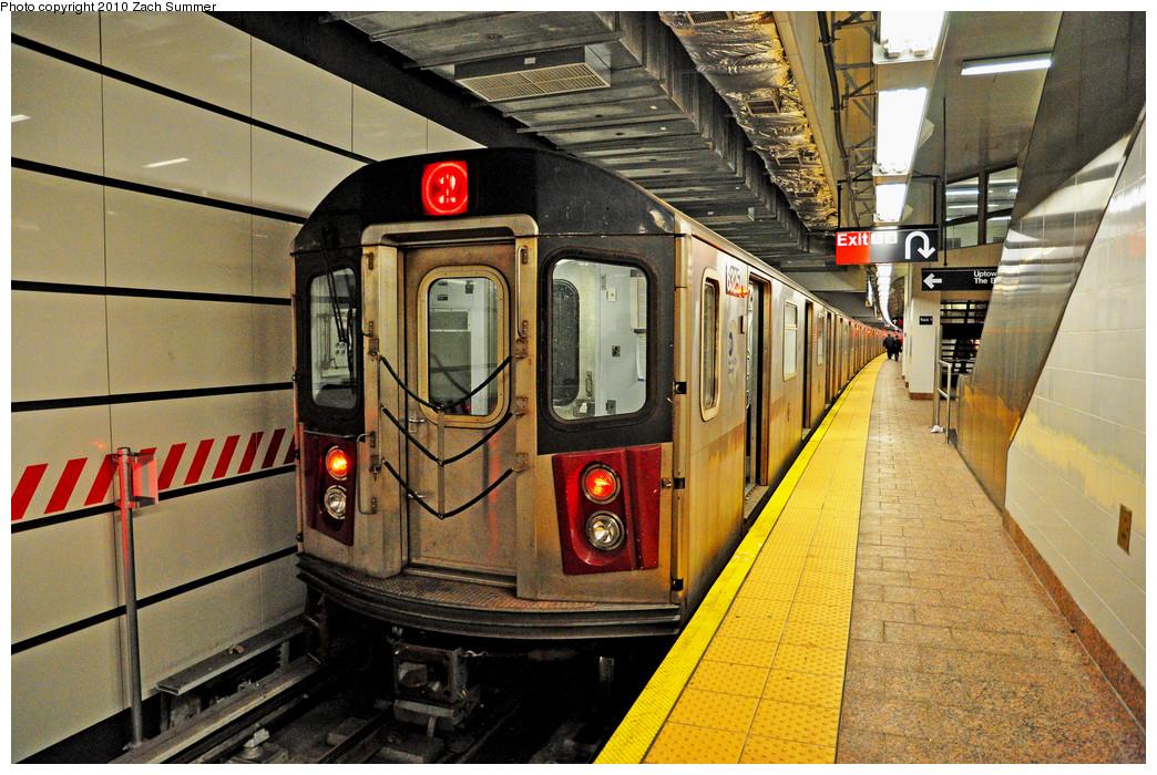 (358k, 1044x700)<br><b>Country:</b> United States<br><b>City:</b> New York<br><b>System:</b> New York City Transit<br><b>Line:</b> IRT West Side Line<br><b>Location:</b> South Ferry (New Station) <br><b>Route:</b> 2 Reroute<br><b>Car:</b> R-142 (Primary Order, Bombardier, 1999-2002)  6325 <br><b>Photo by:</b> Zach Summer<br><b>Date:</b> 1/9/2010<br><b>Viewed (this week/total):</b> 0 / 2588