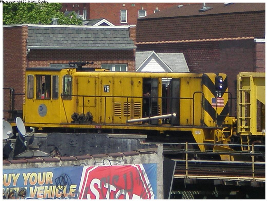 (265k, 1044x788)<br><b>Country:</b> United States<br><b>City:</b> New York<br><b>System:</b> New York City Transit<br><b>Line:</b> BMT Culver Line<br><b>Location:</b> Ditmas Avenue <br><b>Route:</b> Work Service<br><b>Car:</b> R-52 Locomotive  78 <br><b>Photo by:</b> John Dooley<br><b>Date:</b> 5/10/2009<br><b>Viewed (this week/total):</b> 0 / 632