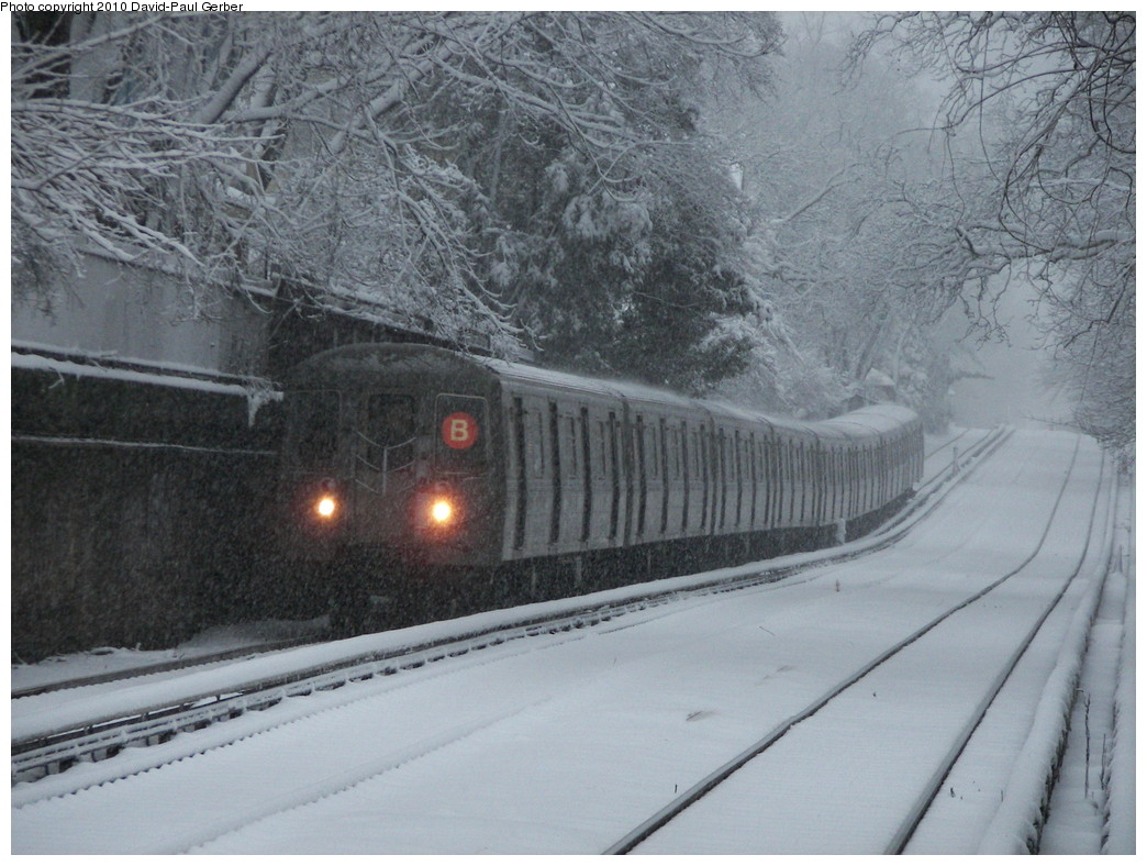 (281k, 1044x788)<br><b>Country:</b> United States<br><b>City:</b> New York<br><b>System:</b> New York City Transit<br><b>Line:</b> BMT Brighton Line<br><b>Location:</b> Newkirk Plaza (fmrly Newkirk Ave.) <br><b>Route:</b> B<br><b>Car:</b> R-68/R-68A Series (Number Unknown)  <br><b>Photo by:</b> David-Paul Gerber<br><b>Date:</b> 2/10/2010<br><b>Viewed (this week/total):</b> 2 / 2113