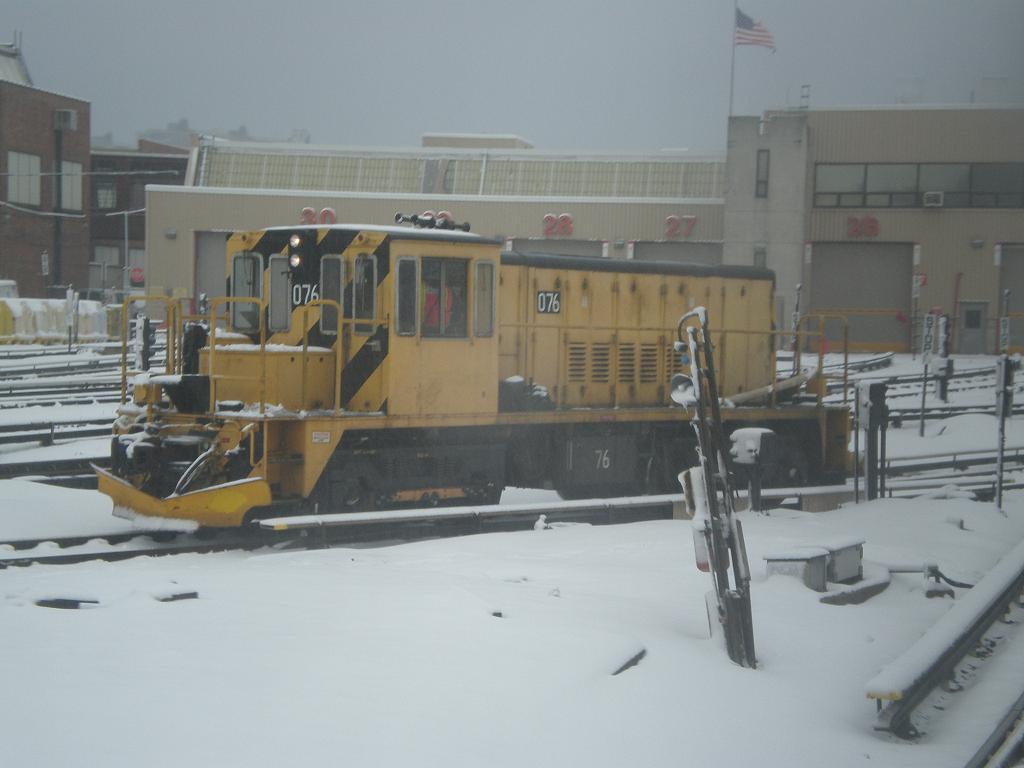 (78k, 1024x768)<br><b>Country:</b> United States<br><b>City:</b> New York<br><b>System:</b> New York City Transit<br><b>Location:</b> Coney Island Yard<br><b>Car:</b> R-52 Locomotive  76 <br><b>Photo by:</b> John Dooley<br><b>Date:</b> 2/10/2010<br><b>Viewed (this week/total):</b> 0 / 520