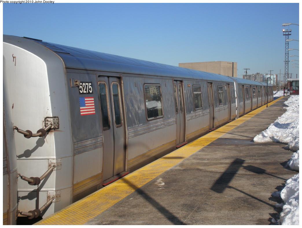(212k, 1044x788)<br><b>Country:</b> United States<br><b>City:</b> New York<br><b>System:</b> New York City Transit<br><b>Line:</b> IND Rockaway<br><b>Location:</b> Rockaway Park/Beach 116th Street <br><b>Route:</b> S<br><b>Car:</b> R-44 (St. Louis, 1971-73) 5475 <br><b>Photo by:</b> John Dooley<br><b>Date:</b> 2/12/2010<br><b>Viewed (this week/total):</b> 0 / 1112