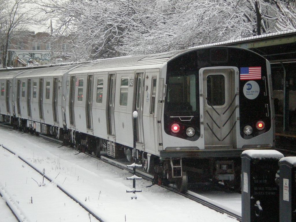 (166k, 1024x768)<br><b>Country:</b> United States<br><b>City:</b> New York<br><b>System:</b> New York City Transit<br><b>Line:</b> BMT Sea Beach Line<br><b>Location:</b> 8th Avenue <br><b>Route:</b> M reroute<br><b>Car:</b> R-160A-1 (Alstom, 2005-2008, 4 car sets)  8436 <br><b>Photo by:</b> John Dooley<br><b>Date:</b> 2/10/2010<br><b>Viewed (this week/total):</b> 0 / 1240