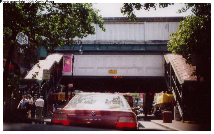 (101k, 734x460)<br><b>Country:</b> United States<br><b>City:</b> New York<br><b>System:</b> New York City Transit<br><b>Line:</b> IRT Flushing Line<br><b>Location:</b> 82nd Street/Jackson Heights <br><b>Photo by:</b> Kevin Wong<br><b>Date:</b> 7/2003<br><b>Notes:</b> Station entrance.<br><b>Viewed (this week/total):</b> 0 / 4887