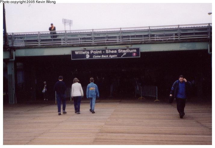 (68k, 714x494)<br><b>Country:</b> United States<br><b>City:</b> New York<br><b>System:</b> New York City Transit<br><b>Line:</b> IRT Flushing Line<br><b>Location:</b> Willets Point/Mets (fmr. Shea Stadium) <br><b>Photo by:</b> Kevin Wong<br><b>Date:</b> 5/29/2003<br><b>Notes:</b> Station entrance.<br><b>Viewed (this week/total):</b> 1 / 6345