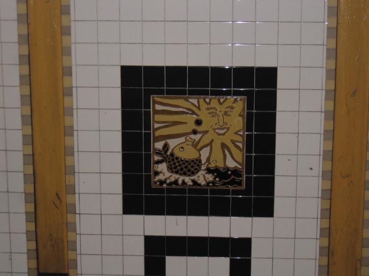(44k, 750x562)<br><b>Country:</b> United States<br><b>City:</b> New York<br><b>System:</b> New York City Transit<br><b>Line:</b> IRT Brooklyn Line<br><b>Location:</b> Utica Avenue <br><b>Photo by:</b> Robbie Rosenfeld<br><b>Date:</b> 2/14/2005<br><b>Artwork:</b> <i>Good Morning, Good Night</i>, Hugo Consuegra.<br><b>Viewed (this week/total):</b> 2 / 2170