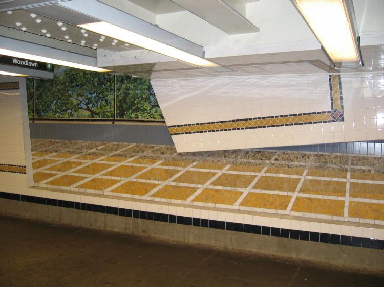 (66k, 750x562)<br><b>Country:</b> United States<br><b>City:</b> New York<br><b>System:</b> New York City Transit<br><b>Line:</b> IND Concourse Line<br><b>Location:</b> 161st Street/River Avenue (Yankee Stadium) <br><b>Photo by:</b> Robbie Rosenfeld<br><b>Date:</b> 3/1/2005<br><b>Artwork:</b> <i>Wall-Slide/Room of Tranquility</i>,  Acconci/Brandt (2002).<br><b>Viewed (this week/total):</b> 0 / 3884