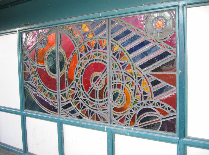 (83k, 731x542)<br><b>Country:</b> United States<br><b>City:</b> New York<br><b>System:</b> New York City Transit<br><b>Line:</b> BMT Nassau Street/Jamaica Line<br><b>Location:</b> Marcy Avenue <br><b>Photo by:</b> Robbie Rosenfeld<br><b>Date:</b> 3/14/2005<br><b>Artwork:</b> <i>A Space Odyssey</i>, Ellsworth Ausby (2005).<br><b>Viewed (this week/total):</b> 7 / 2884
