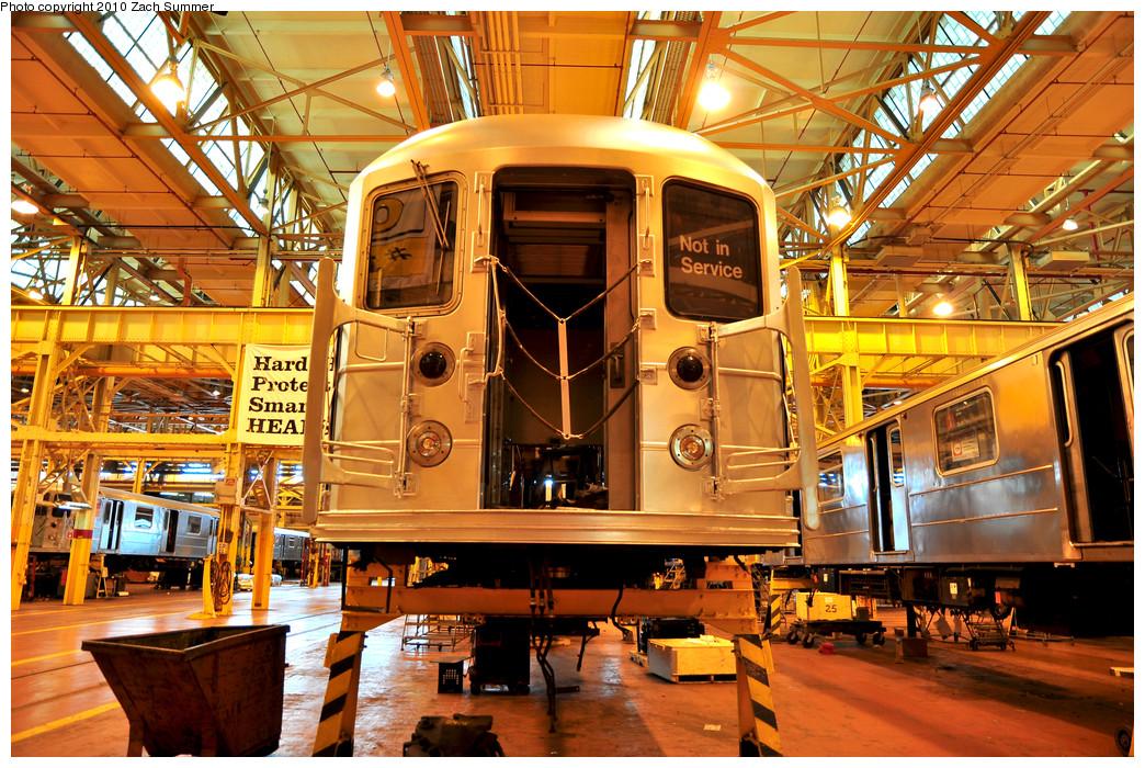 (402k, 1044x700)<br><b>Country:</b> United States<br><b>City:</b> New York<br><b>System:</b> New York City Transit<br><b>Location:</b> Coney Island Shop/Overhaul & Repair Shop<br><b>Car:</b> R-62A (Bombardier, 1984-1987)  2406 <br><b>Photo by:</b> Zach Summer<br><b>Date:</b> 1/10/2010<br><b>Viewed (this week/total):</b> 1 / 876