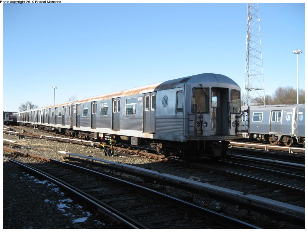 (203k, 1044x788)<br><b>Country:</b> United States<br><b>City:</b> New York<br><b>System:</b> New York City Transit<br><b>Location:</b> East New York Yard/Shops<br><b>Car:</b> R-42 (St. Louis, 1969-1970)  4788 <br><b>Photo by:</b> Robert Mencher<br><b>Date:</b> 2/8/2010<br><b>Viewed (this week/total):</b> 0 / 1074