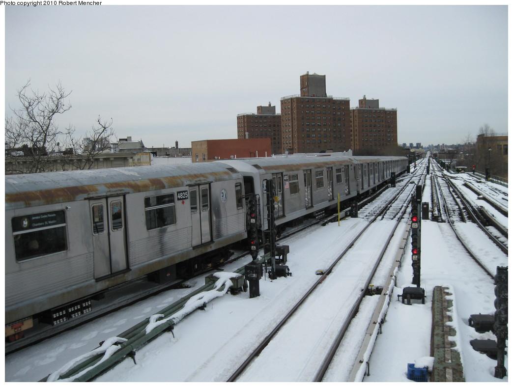 (194k, 1044x788)<br><b>Country:</b> United States<br><b>City:</b> New York<br><b>System:</b> New York City Transit<br><b>Line:</b> BMT Nassau Street/Jamaica Line<br><b>Location:</b> Broadway/East New York (Broadway Junction) <br><b>Route:</b> J<br><b>Car:</b> R-42 (St. Louis, 1969-1970)  4815 <br><b>Photo by:</b> Robert Mencher<br><b>Date:</b> 2/13/2010<br><b>Viewed (this week/total):</b> 0 / 853