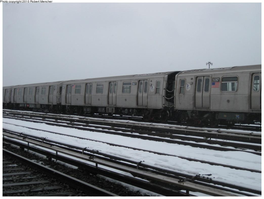 (166k, 1044x788)<br><b>Country:</b> United States<br><b>City:</b> New York<br><b>System:</b> New York City Transit<br><b>Location:</b> Coney Island Yard<br><b>Car:</b> R-160B (Option 1) (Kawasaki, 2008-2009)  9227 <br><b>Photo by:</b> Robert Mencher<br><b>Date:</b> 2/16/2010<br><b>Viewed (this week/total):</b> 1 / 580