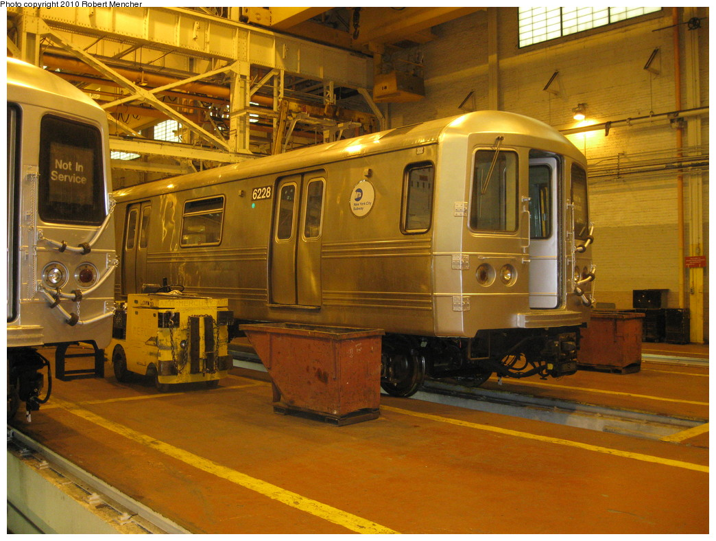 (264k, 1044x788)<br><b>Country:</b> United States<br><b>City:</b> New York<br><b>System:</b> New York City Transit<br><b>Location:</b> Coney Island Shop/Overhaul & Repair Shop<br><b>Car:</b> R-46 (Pullman-Standard, 1974-75) 6228 <br><b>Photo by:</b> Robert Mencher<br><b>Date:</b> 2/16/2010<br><b>Viewed (this week/total):</b> 0 / 729
