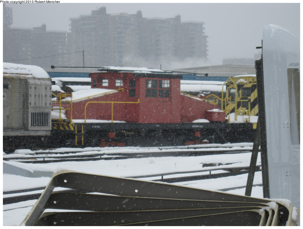 (184k, 1044x788)<br><b>Country:</b> United States<br><b>City:</b> New York<br><b>System:</b> New York City Transit<br><b>Location:</b> Coney Island Yard-Museum Yard<br><b>Car:</b> SBK Steeplecab 7 <br><b>Photo by:</b> Robert Mencher<br><b>Date:</b> 2/16/2010<br><b>Viewed (this week/total):</b> 2 / 1147