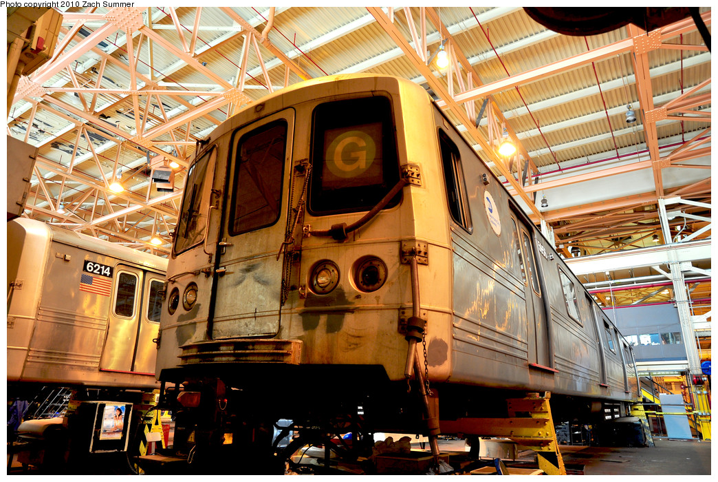 (384k, 1044x700)<br><b>Country:</b> United States<br><b>City:</b> New York<br><b>System:</b> New York City Transit<br><b>Location:</b> Coney Island Shop/Overhaul & Repair Shop<br><b>Car:</b> R-46 (Pullman-Standard, 1974-75) 5956 <br><b>Photo by:</b> Zach Summer<br><b>Date:</b> 1/10/2010<br><b>Viewed (this week/total):</b> 0 / 805
