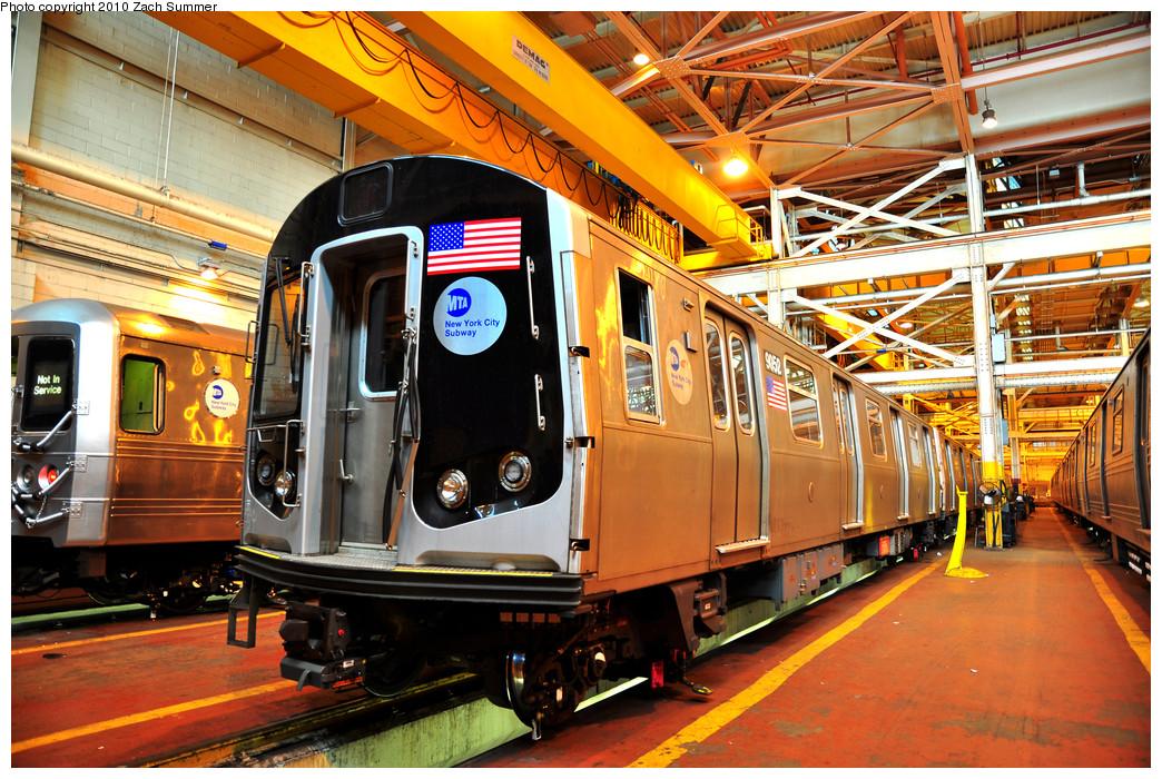 (376k, 1044x700)<br><b>Country:</b> United States<br><b>City:</b> New York<br><b>System:</b> New York City Transit<br><b>Location:</b> Coney Island Shop/Overhaul & Repair Shop<br><b>Car:</b> R-160B (Option 1) (Kawasaki, 2008-2009)  9052 <br><b>Photo by:</b> Zach Summer<br><b>Date:</b> 1/10/2010<br><b>Viewed (this week/total):</b> 1 / 900