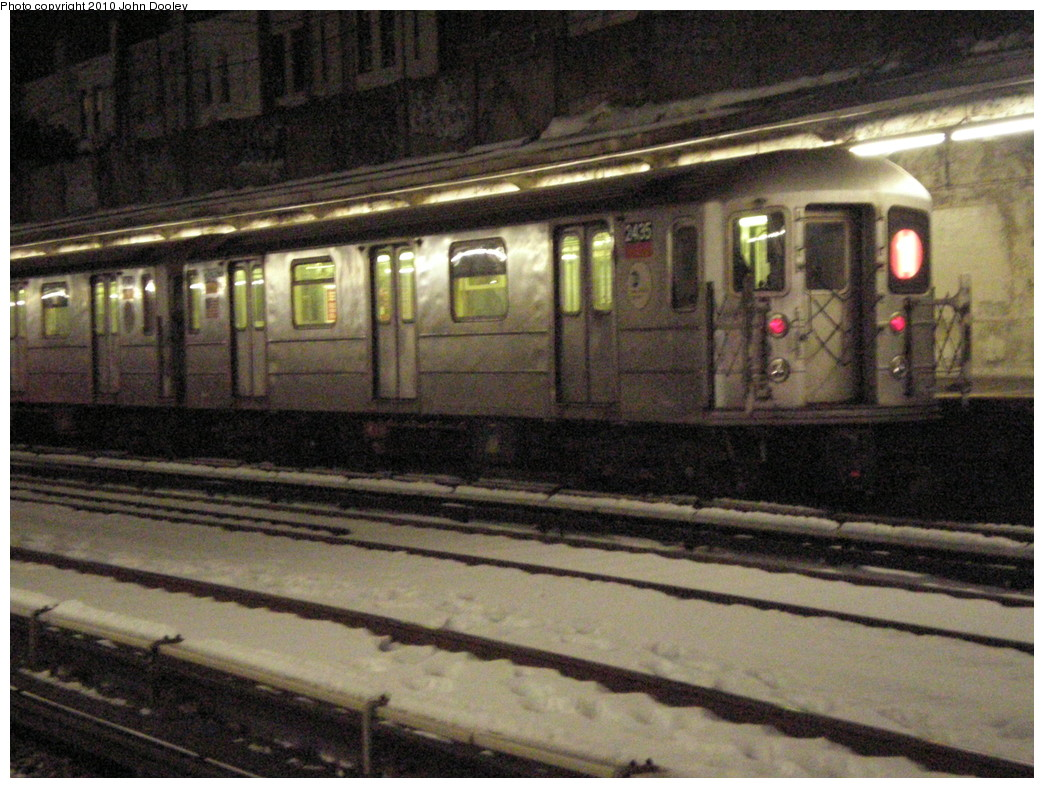 (263k, 1044x788)<br><b>Country:</b> United States<br><b>City:</b> New York<br><b>System:</b> New York City Transit<br><b>Line:</b> BMT Sea Beach Line<br><b>Location:</b> Kings Highway <br><b>Route:</b> Yard move<br><b>Car:</b> R-62A (Bombardier, 1984-1987)  2435 <br><b>Photo by:</b> John Dooley<br><b>Date:</b> 2/17/2010<br><b>Viewed (this week/total):</b> 0 / 2232