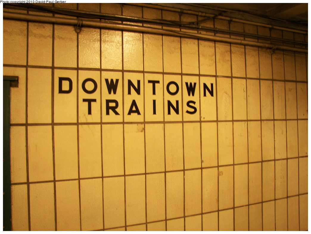 (246k, 1044x788)<br><b>Country:</b> United States<br><b>City:</b> New York<br><b>System:</b> New York City Transit<br><b>Line:</b> IRT West Side Line<br><b>Location:</b> 96th Street <br><b>Photo by:</b> David-Paul Gerber<br><b>Date:</b> 2/27/2010<br><b>Notes:</b> Last look of the 1950s IRT tiling at the 94th Street (south end mezzanine). This will be covered when renovated.<br><b>Viewed (this week/total):</b> 0 / 661