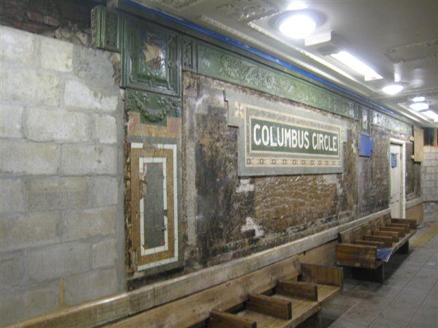 (56k, 640x480)<br><b>Country:</b> United States<br><b>City:</b> New York<br><b>System:</b> New York City Transit<br><b>Line:</b> IRT West Side Line<br><b>Location:</b> 59th Street/Columbus Circle <br><b>Photo by:</b> David Blair<br><b>Date:</b> 2/19/2010<br><b>Notes:</b> Station renovation.<br><b>Viewed (this week/total):</b> 0 / 956