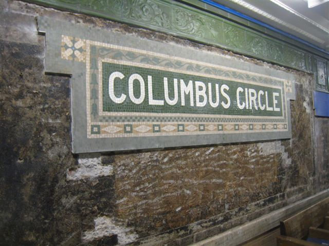 (69k, 640x480)<br><b>Country:</b> United States<br><b>City:</b> New York<br><b>System:</b> New York City Transit<br><b>Line:</b> IRT West Side Line<br><b>Location:</b> 59th Street/Columbus Circle <br><b>Photo by:</b> David Blair<br><b>Date:</b> 2/19/2010<br><b>Notes:</b> Station renovation.<br><b>Viewed (this week/total):</b> 2 / 792