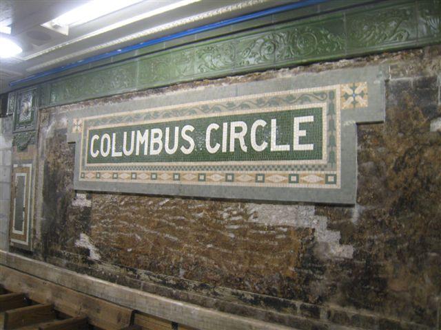 (65k, 640x480)<br><b>Country:</b> United States<br><b>City:</b> New York<br><b>System:</b> New York City Transit<br><b>Line:</b> IRT West Side Line<br><b>Location:</b> 59th Street/Columbus Circle <br><b>Photo by:</b> David Blair<br><b>Date:</b> 2/19/2010<br><b>Notes:</b> Station renovation.<br><b>Viewed (this week/total):</b> 3 / 796