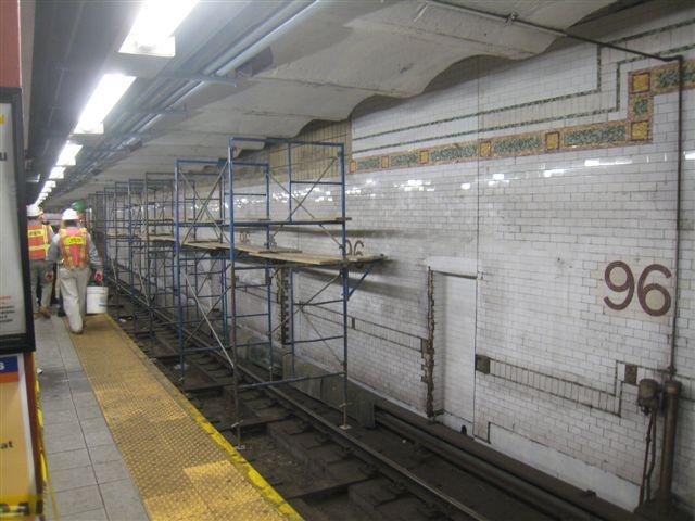 (60k, 640x480)<br><b>Country:</b> United States<br><b>City:</b> New York<br><b>System:</b> New York City Transit<br><b>Line:</b> IRT West Side Line<br><b>Location:</b> 96th Street <br><b>Photo by:</b> David Blair<br><b>Date:</b> 2/20/2010<br><b>Notes:</b> Station renovation.<br><b>Viewed (this week/total):</b> 2 / 964