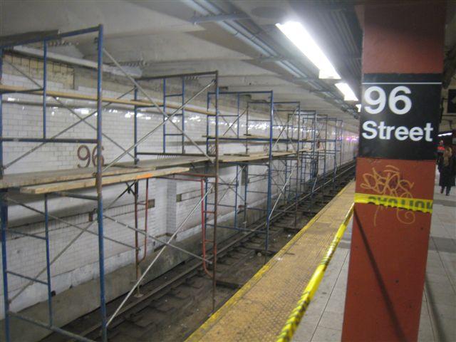 (57k, 640x480)<br><b>Country:</b> United States<br><b>City:</b> New York<br><b>System:</b> New York City Transit<br><b>Line:</b> IRT West Side Line<br><b>Location:</b> 96th Street <br><b>Photo by:</b> David Blair<br><b>Date:</b> 2/20/2010<br><b>Notes:</b> Station renovation.<br><b>Viewed (this week/total):</b> 3 / 1073