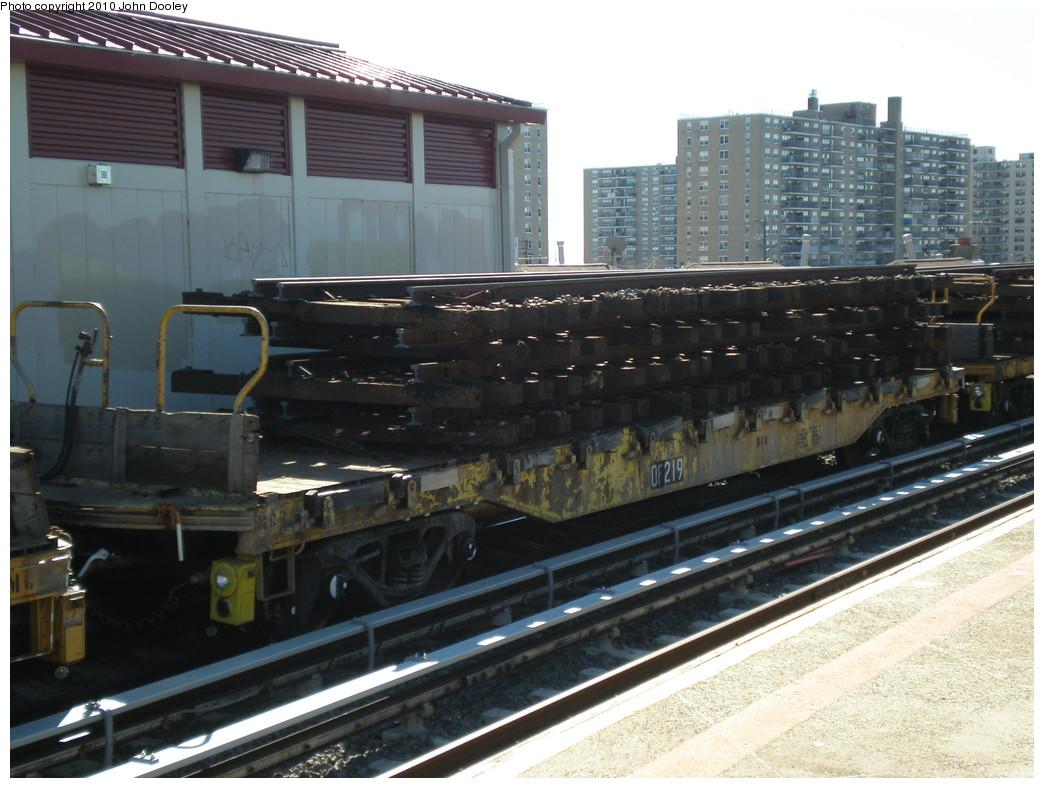 (227k, 1044x788)<br><b>Country:</b> United States<br><b>City:</b> New York<br><b>System:</b> New York City Transit<br><b>Line:</b> IND Rockaway<br><b>Location:</b> Beach 98th Street/Playland <br><b>Route:</b> Work Service<br><b>Car:</b> Flat Car 210 <br><b>Photo by:</b> John Dooley<br><b>Date:</b> 3/6/2010<br><b>Viewed (this week/total):</b> 0 / 819