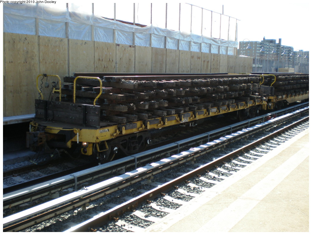 (242k, 1044x788)<br><b>Country:</b> United States<br><b>City:</b> New York<br><b>System:</b> New York City Transit<br><b>Line:</b> IND Rockaway<br><b>Location:</b> Beach 98th Street/Playland <br><b>Route:</b> Work Service<br><b>Car:</b> Flat Car 528 <br><b>Photo by:</b> John Dooley<br><b>Date:</b> 3/6/2010<br><b>Viewed (this week/total):</b> 2 / 945