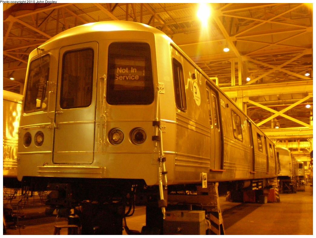 (250k, 1044x788)<br><b>Country:</b> United States<br><b>City:</b> New York<br><b>System:</b> New York City Transit<br><b>Location:</b> Coney Island Shop/Overhaul & Repair Shop<br><b>Car:</b> R-46 (Pullman-Standard, 1974-75) 5712 <br><b>Photo by:</b> John Dooley<br><b>Date:</b> 3/14/2010<br><b>Viewed (this week/total):</b> 2 / 661
