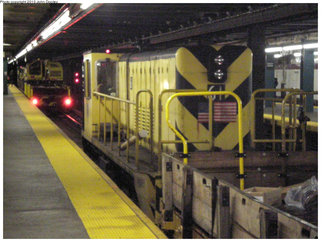 (271k, 1044x788)<br><b>Country:</b> United States<br><b>City:</b> New York<br><b>System:</b> New York City Transit<br><b>Line:</b> IND Crosstown Line<br><b>Location:</b> Church Avenue <br><b>Route:</b> Work Service<br><b>Car:</b> R-43 Locomotive  61 <br><b>Photo by:</b> John Dooley<br><b>Date:</b> 3/13/2010<br><b>Viewed (this week/total):</b> 0 / 893