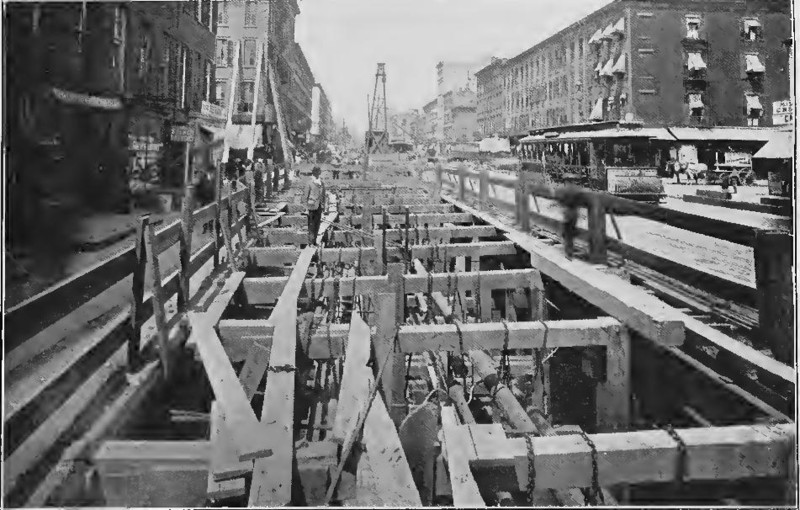 (126k, 800x510)<br><b>Country:</b> United States<br><b>City:</b> New York<br><b>System:</b> New York City Transit<br><b>Line:</b> IRT (Early Views of Construction)<br><b>Collection of:</b> Board of Rapid Transit Railroad Commissioners - File Photo<br><b>Date:</b> 1901<br><b>Notes:</b> Construction of Subway on one side of Fourth Avenue (Report of the Board, 1901)<br><b>Viewed (this week/total):</b> 0 / 1561