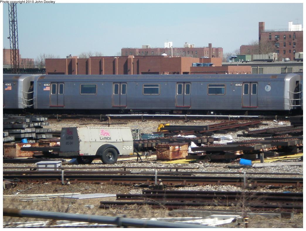 (249k, 1044x788)<br><b>Country:</b> United States<br><b>City:</b> New York<br><b>System:</b> New York City Transit<br><b>Location:</b> Coney Island Yard<br><b>Car:</b> R-46 (Pullman-Standard, 1974-75) 6063 <br><b>Photo by:</b> John Dooley<br><b>Date:</b> 3/16/2010<br><b>Viewed (this week/total):</b> 0 / 624