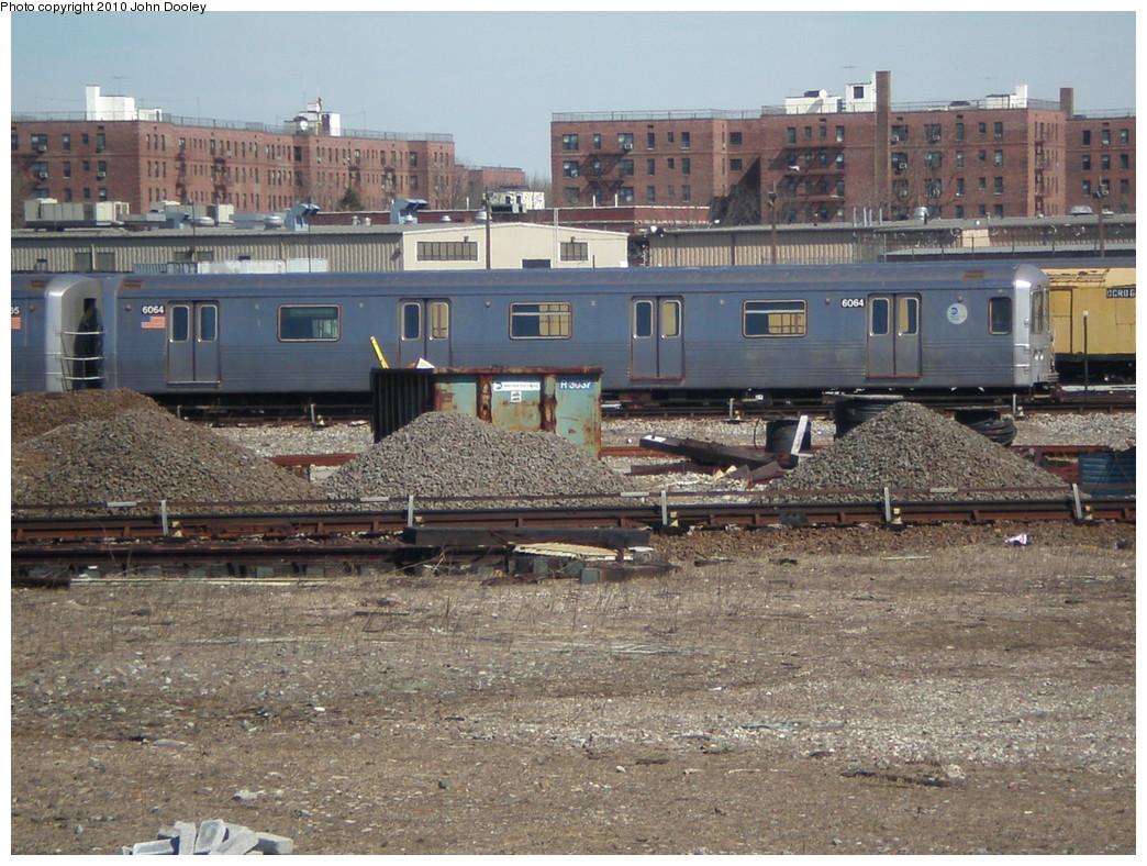 (292k, 1044x788)<br><b>Country:</b> United States<br><b>City:</b> New York<br><b>System:</b> New York City Transit<br><b>Location:</b> Coney Island Yard<br><b>Car:</b> R-46 (Pullman-Standard, 1974-75) 6064 <br><b>Photo by:</b> John Dooley<br><b>Date:</b> 3/16/2010<br><b>Viewed (this week/total):</b> 0 / 853