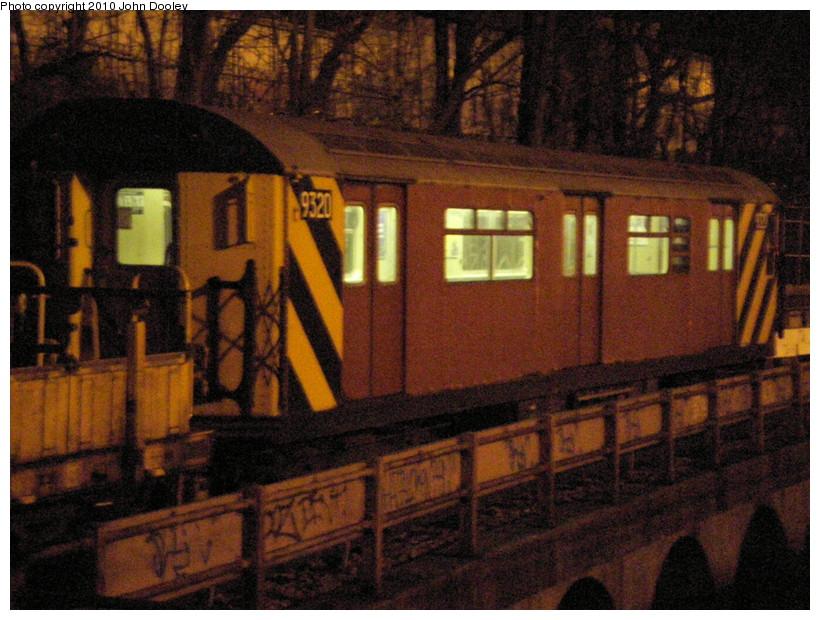 (183k, 820x620)<br><b>Country:</b> United States<br><b>City:</b> New York<br><b>System:</b> New York City Transit<br><b>Line:</b> BMT West End Line<br><b>Location:</b> 9th Avenue <br><b>Route:</b> Work Service<br><b>Car:</b> R-33 World's Fair (St. Louis, 1963-64) 9320 <br><b>Photo by:</b> John Dooley<br><b>Date:</b> 3/17/2009<br><b>Viewed (this week/total):</b> 0 / 1053