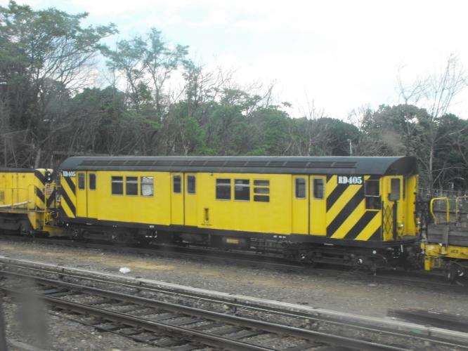 (247k, 666x500)<br><b>Country:</b> United States<br><b>City:</b> New York<br><b>System:</b> New York City Transit<br><b>Line:</b> BMT West End Line<br><b>Location:</b> 9th Avenue <br><b>Route:</b> Work Service<br><b>Car:</b> R-161 Rider Car (ex-R-33)  RD405 <br><b>Photo by:</b> John Dooley<br><b>Date:</b> 2009<br><b>Viewed (this week/total):</b> 3 / 961