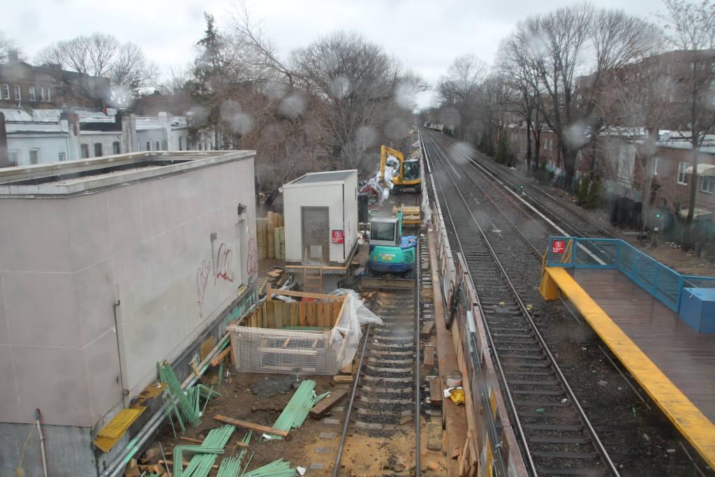 (128k, 1024x683)<br><b>Country:</b> United States<br><b>City:</b> New York<br><b>System:</b> New York City Transit<br><b>Line:</b> BMT Brighton Line<br><b>Location:</b> Avenue J <br><b>Photo by:</b> Robbie Rosenfeld<br><b>Date:</b> 3/14/2010<br><b>Notes:</b> Station reconstruction.<br><b>Viewed (this week/total):</b> 0 / 1396