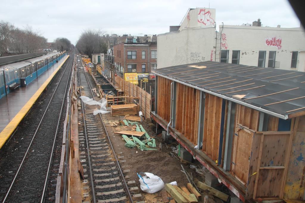 (136k, 1024x683)<br><b>Country:</b> United States<br><b>City:</b> New York<br><b>System:</b> New York City Transit<br><b>Line:</b> BMT Brighton Line<br><b>Location:</b> Avenue J <br><b>Photo by:</b> Robbie Rosenfeld<br><b>Date:</b> 3/14/2010<br><b>Notes:</b> Station reconstruction.<br><b>Viewed (this week/total):</b> 1 / 1505