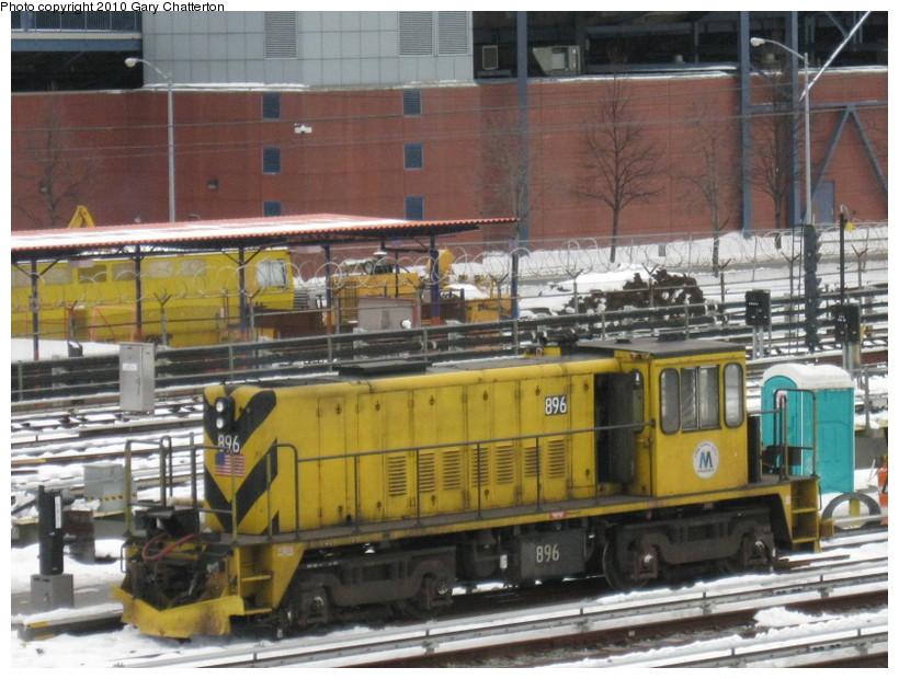 (156k, 820x620)<br><b>Country:</b> United States<br><b>City:</b> New York<br><b>System:</b> New York City Transit<br><b>Location:</b> Corona Yard<br><b>Car:</b> R-77 Locomotive  896 <br><b>Photo by:</b> Gary Chatterton<br><b>Date:</b> 2/13/2010<br><b>Viewed (this week/total):</b> 0 / 679
